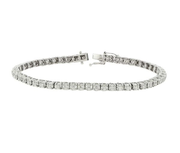 Bracelet tennis 14k 45=1,50 diamants