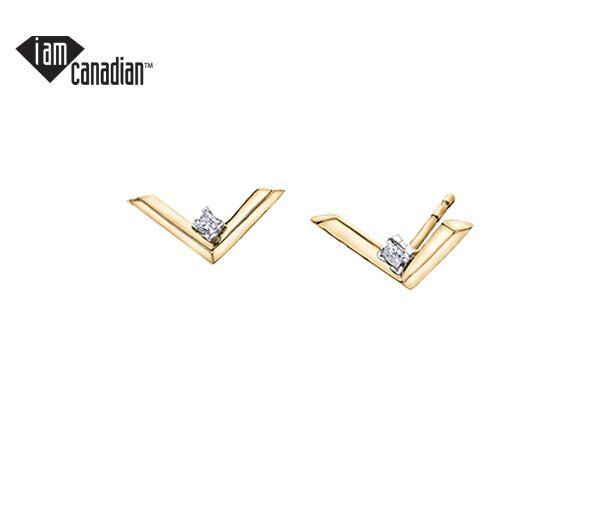Boucles 10k 2=0,07 diamant canadien