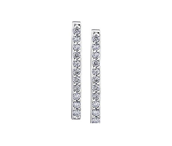 Boucles fixes 10k blanc 22=0,11 diamant i1