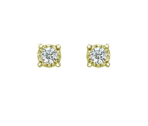 Boucles 10k 2=0,03 diamants si2