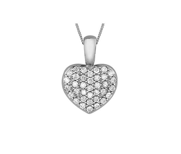 Pendentif 10k bl.coeur 36=0,18 diamants