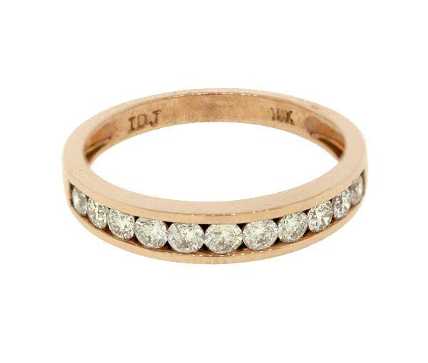Jonc 10k rose 11=0,50 diamant i1-i2