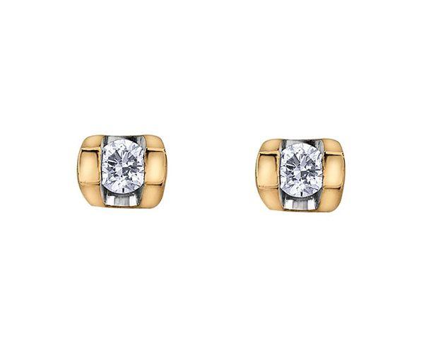 Boucles 10k 2= 0,06 diamants