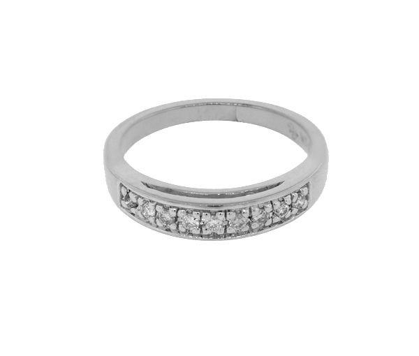 Jonc 10k bl 9=0,15 diamant si1-si2
