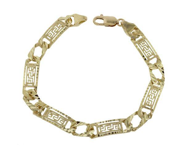 Bracelet homme 10k 9'' versace taille diamant
