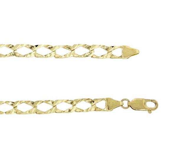 Bracelet 10k gourmette 6.15mm 8.5''