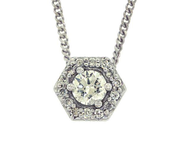 Pendentif 14k 0,37ct+14=0,13 diamant si1