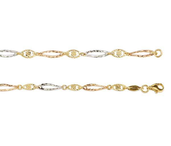 Bracelet 10k 3t taille diamant 3.8mm 7.5